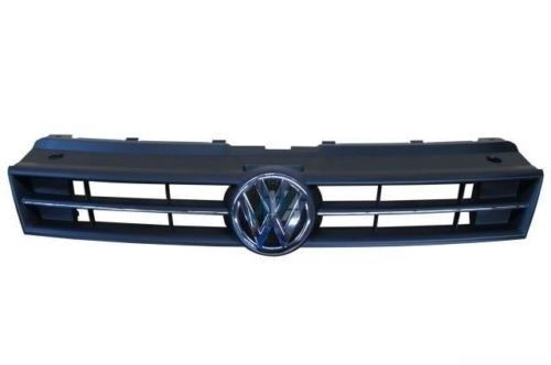 Neuf Origine VW Polo 10-12 Pare-Chocs avant Supérieur Centre Grille Chrome