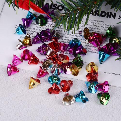 50 Mischfarben-Weihnachtsklingel-Bell-Charme-Anhänger 16mm für Fertigkeit TPI