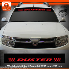 Sticker DACIA DUSTER tuning paresoleil aufkleber adesivi pegatina decal 407R