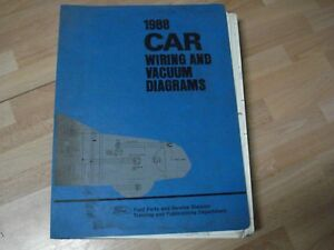 1988 Lincoln Town Car Factory Wiring Diagrams | eBay