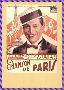 Carte-Postale-Affiche-de-Film-LA-CHANSON-DE-PARIS-MAURICE-CHEVALIER