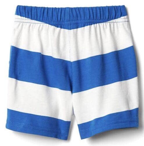 Baby Gap Boy Pull On Stripe Shorts Bottom Stillwater Blue Size 12-18 Months NWT