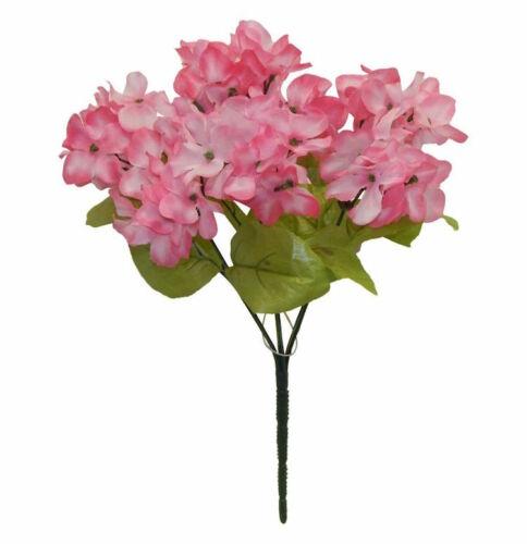 Hydrangea x 6 Bush MANY COLORS Wedding Centerpieces Bridal Bouquet Silk Flowers