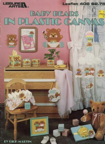 Baby Bears Mobile Tissue Wall Hanging Switch Plate Cover Plastic Canvas Pattern