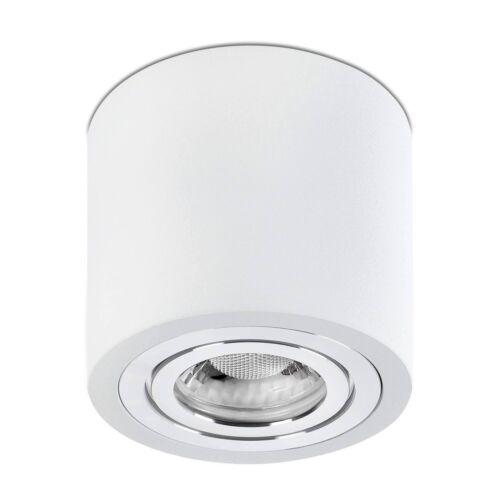 Feuchtraum Decken-Aufbau-Strahler IP44 in weiß für Bad / Außen inkl. 5W GU10 LED