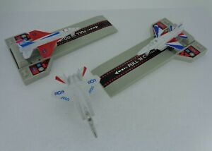 Vintage-Soma-Juguetes-1988-3x-Tire-hacia-atras-Diecast-avion-juguetes-y-rampas-de-lanzamiento-de