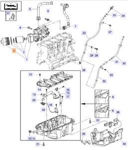 Deckel Gehäuse Ölfilter Insignia 2.0 CDTI A20DTH A20DTR GM 55565961 OPEL 650018