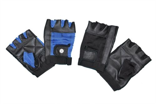 WEIGHT LIFTING PADDED LEATHER GLOVES FITNESS TRAINING CYCLING SPORTS WHEELCHAIR