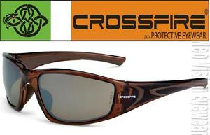 a6159a211a Crossfire RPG Brown Brown Mirror High Definition Lens Safety Glasses ...