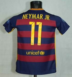 check out b4c0b f9a7c Details about BOYS BARCELONA FOOTBALL SHIRT #11 NEYMAR JR NIKE SIZE 12-13  Years EXCL