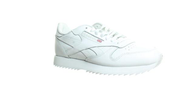 Reebok Mens Classic Leather Ripple White/Steel Fashion Sneaker Size 7.5