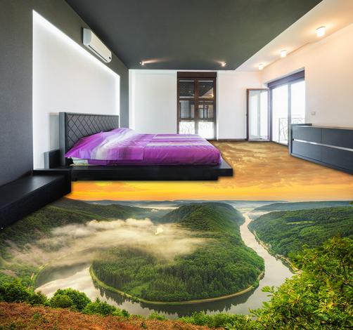 3D Mountains And Rivers 798 Floor WallPaper Murals Wall Print Decal 5D AU Lemon