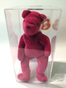 d98ae2860d8 Authenticated Ty Beanie 1st Gen Old Face MAGENTA Teddy MWMT MQ ...