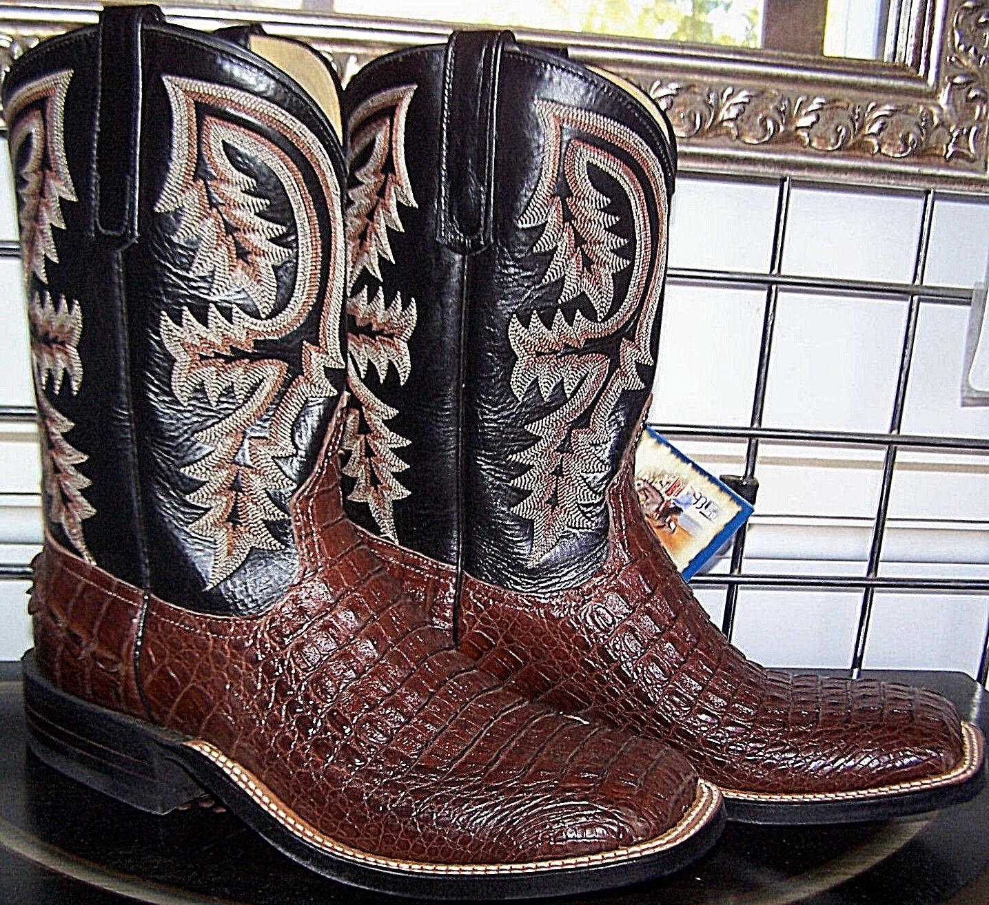 Anderson Bean sportrust Caimán Cocodrilo Cocodrilo botas de vaquero 8.5C señoras 9.5