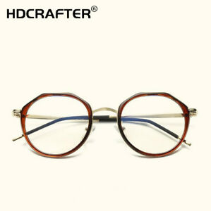 5eae25d2983 Men Women Eyeglass Round Frame Myopia Glasses Frame Retro Optical ...