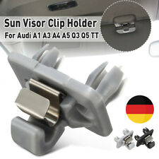 Inner Sonnenblende Halter Klip Sternsilber Grau ABS Für Audi A1 A3 A4 A5