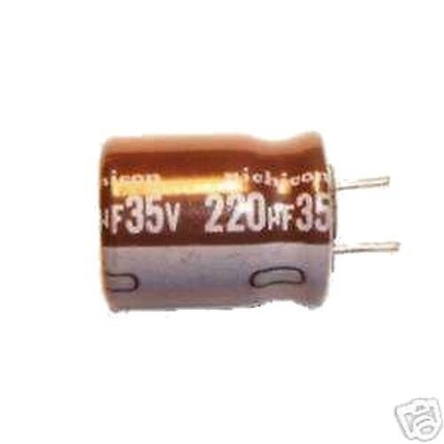 Lot of 8 Electrolytic Capacitor 220uF 35V 105C Nichicon UPE1V221MPH1CV