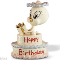 Lenox Tweety's Happy Birthday Cake Figurine Cake Topper Bird In Box Coa