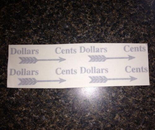 National Cash Register Ncr Decal Stickers For Cash Register Back Plates