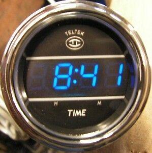 KENWORTH STYLE BLUE TELTEK DIGITAL CLOCK 243K