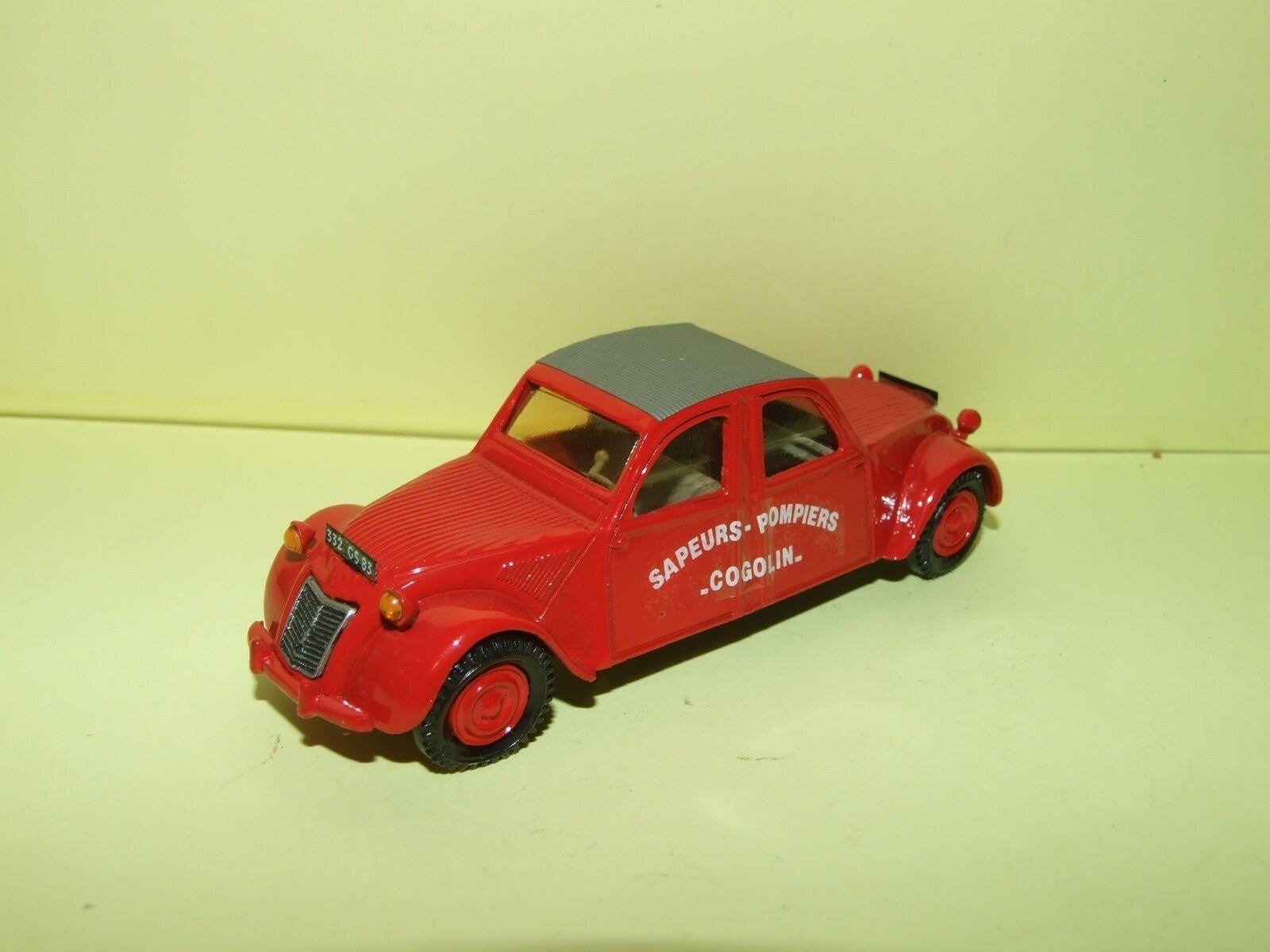 CITROEN 2CV 1960 SAPEURS POMPIERS COGOLIN KIT Monté MMT Sans Boite 1 43