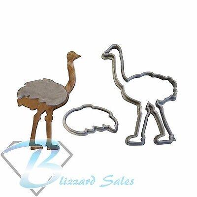Emu Shape Cookie Fondant Cutter 5cm 7cm 10cm Set Cake Decorating Tools