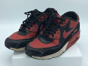 Nike Boys Air Max 90 Ltr Running Shoes Red Black 6 5 M