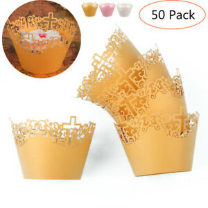 50pcs-Lace-Out-Paper-Cake-Cupcake-Wrappers-Muffin-Cases-Baking-Cup-Case-Trays