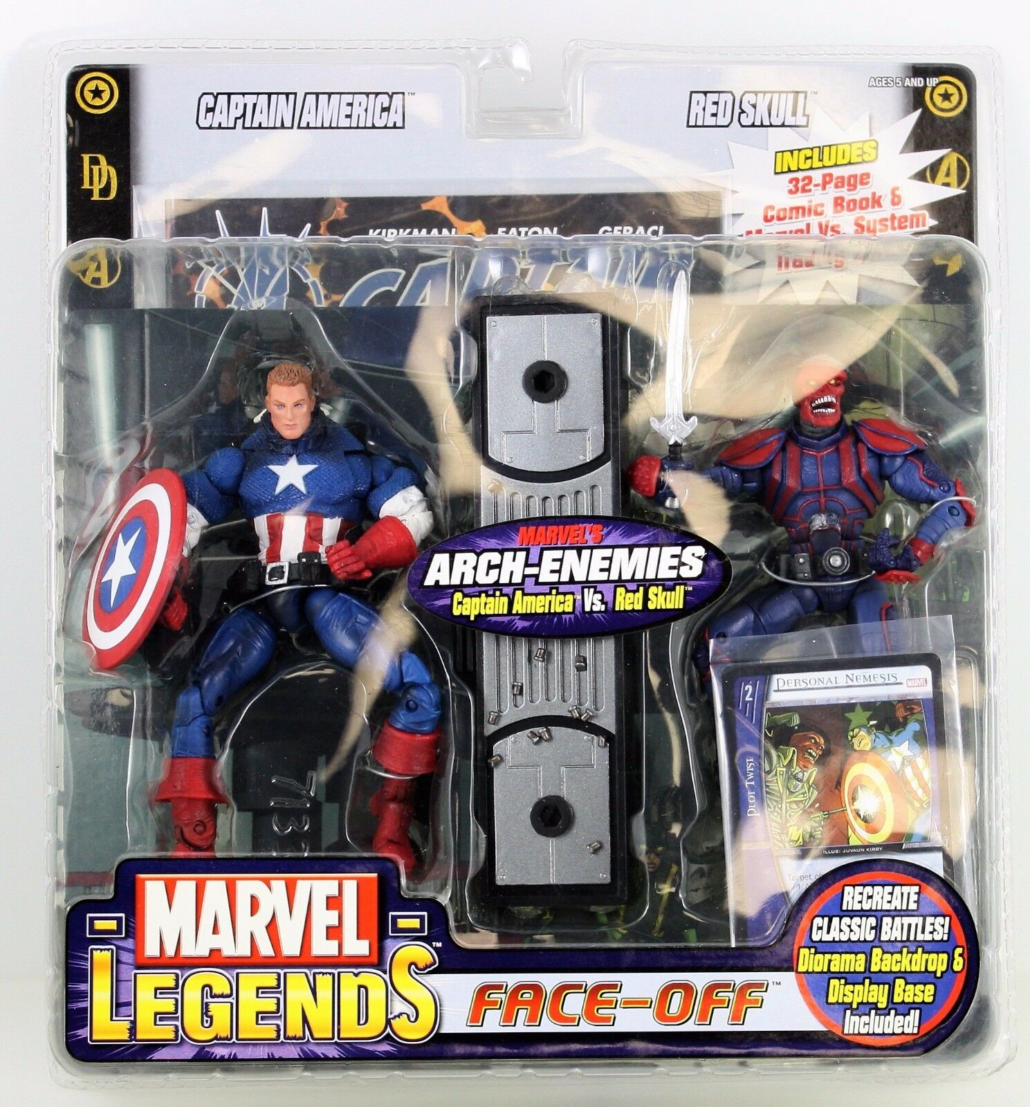 RARE Factory error Marvel Legends face off masqué Captain America VS rouge Skull
