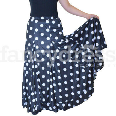 Spanish Dance Practice Black Skirt Single Frill Flamenco Ballroom Traditional