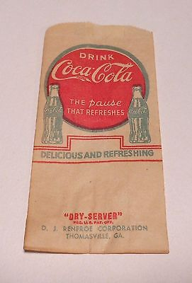 1929 COCA-COLA DRI SERVER OR NO DRIP NOS  MINT  THE PAUSE THAT REFRESHES