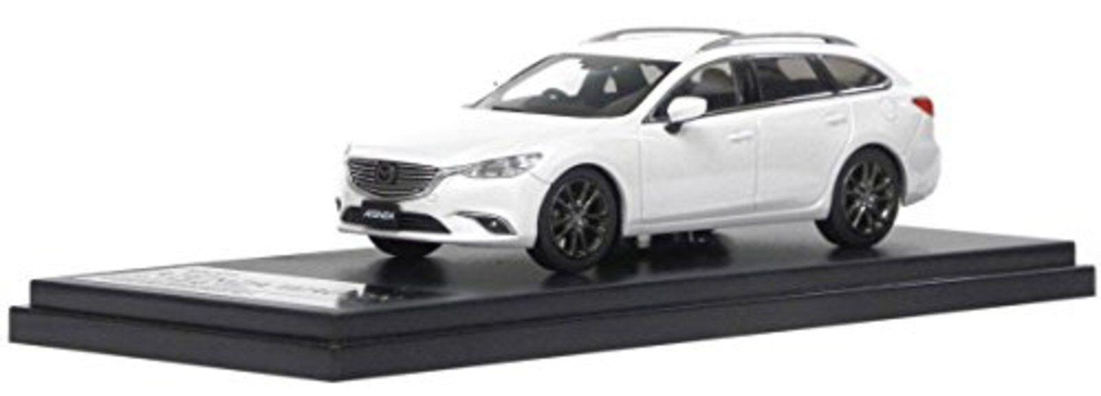 Hi Story 1/43 Mazda Atenza Wagon (2018) Copo De Nieve Blanco Perla Mica F/S con nº de seguimiento