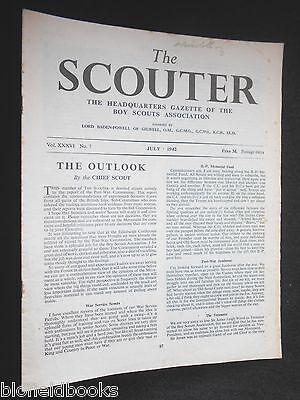 July 1942 The Scouter Zielsetzung Vintage Boy Scout Association Magazine Vol Xxxvi/7