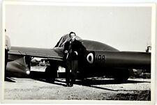 Fotografia Aviazione - Aereo Caccia 3 198 - (Retro Timbro Leone Foggia)
