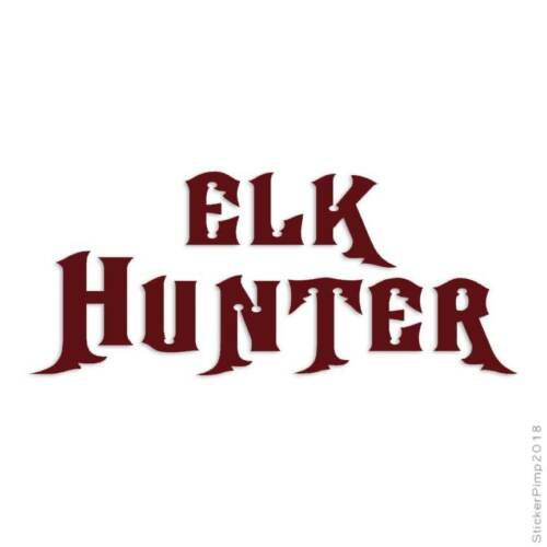 Size #266 Elk Hunter Hunting Decal Sticker Choose Color