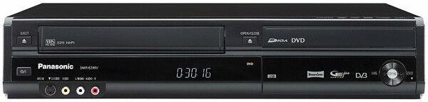 Panasonic DMR-EZ49V Black DVD & VHS Recorder Combo - Freeview - Black - USB