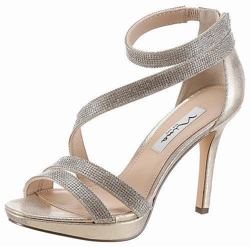 Nina High-Heel-Sandalette  Alissa  , Gr. 40 , Goldfarben