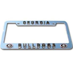 Georgia Bulldogs Deluxe Raised 3D Metal Chrome Auto License Plate Tag Frame