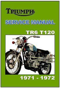 triumph workshop manual t120 tr6 tr6c 1971 to 1972 factory service rh ebay com 1977 Triumph Bonneville 1970 Triumph Bonneville