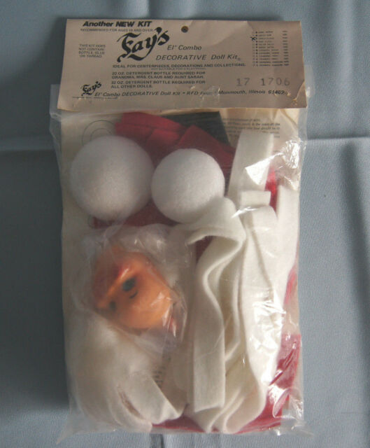 Claus 7025 NOS Vintage Fay/'s El/' Combo Decorative Doll Making Kit Mrs