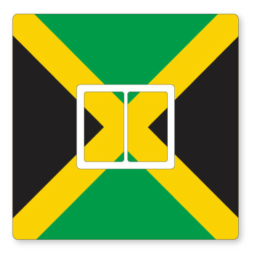 UK LIGHT SWITCH STICKERS LIVING ROOM BEDROOM NURSERY DECOR 2 x JAMAICA