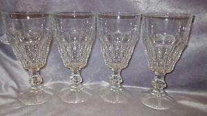 Ice Tea Water Glasses Goblets BORMIOLI ROCCO Vitrosax Line made in Italy 4 13oz