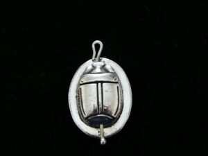 Egyptian filigree Scarab pendant Double side Scarab 925 sterling silver