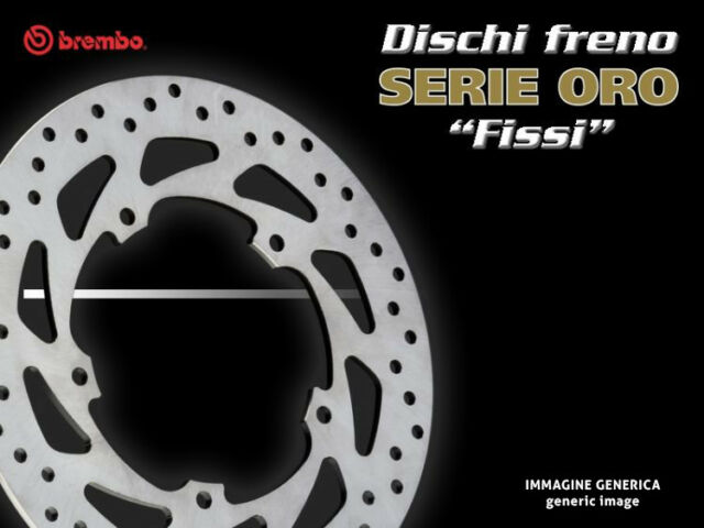 DISCO FRENO ANTERIORE BREMBO ORO TIPO FISSO GILERA NEXUS 250 06>
