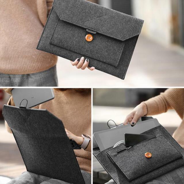 "12""/13""/15"" Wool Felt Sleeve Laptop Case Cover Bag For Apple MacBook Air Pro AU"