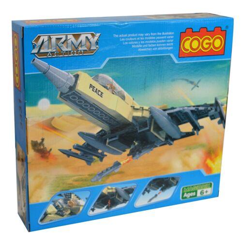 Army Action Fighter Jet Building Blocks Cogo Kids Childrens Toy set