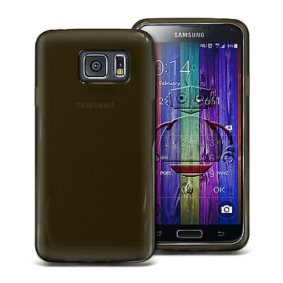 NEW SMOKE BLACK HYDRO GEL CASE COVER SKIN FOR SAMSUNG GALAXY S6