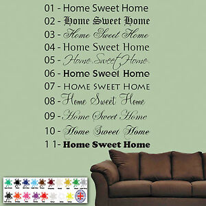 Image Is Loading Home Sweet Home Wall Sticker Part 90