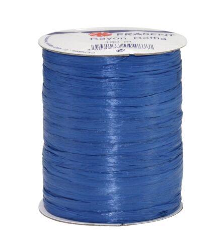 Royal Blue Prasent 100 m Rayon Raffia Spool Ribbon