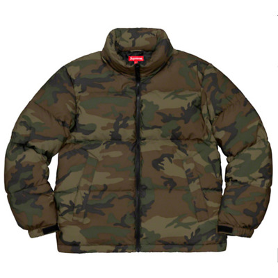 Supreme Reflective Camo Down Jacket - Woodland Camo - Size Medium